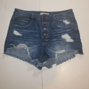 Refuge, Distressed shorts, sz 10